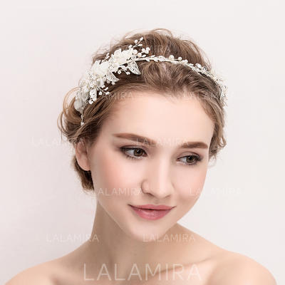 "Tiaras Wedding/Special Occasion/Party Crystal/Alloy/Imitation Pearls/Silk Flower 13.97""(Approx.35.5cm) 3.55""(Approx.9cm) Headpieces (042157961)"