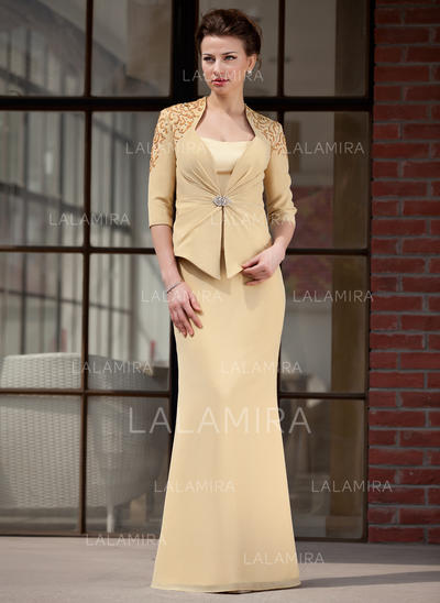 Trumpet/Mermaid Sweetheart Chiffon Charmeuse Delicate Mother of the Bride Dresses (008211451)