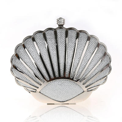 Clutches/Wristlets/Fashion Handbags/Makeup Bags Wedding/Ceremony & Party/Casual & Shopping/Office & Career Stainless Steel Magnetic Closure Elegant Clutches & Evening Bags (012187900)