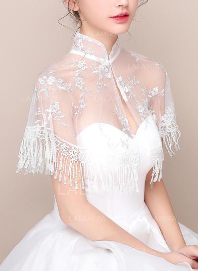 Wrap Wedding Lace Sleeveless With Lace Wraps (013150169)
