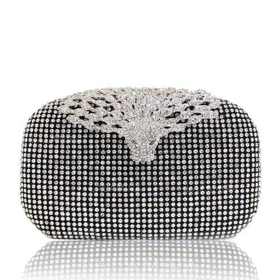 "Clutches Ceremony & Party Crystal/ Rhinestone Fashional 7.09""(Approx.18cm) Clutches & Evening Bags (012187035)"