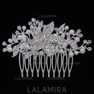 """Combs & Barrettes Wedding/Special Occasion/Party Alloy 3.15""""(Approx.8cm) 2.17""""(Approx.5.5cm) Headpieces (042156882)"""