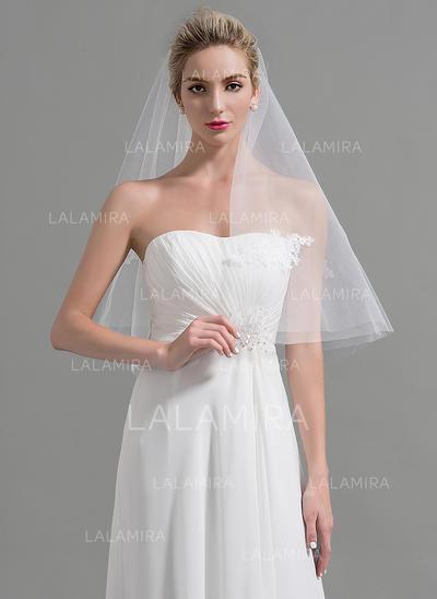 Velos de novia vals Tul Uno capa Estilo clásico con Corte de borde Velos de novia (006095199)