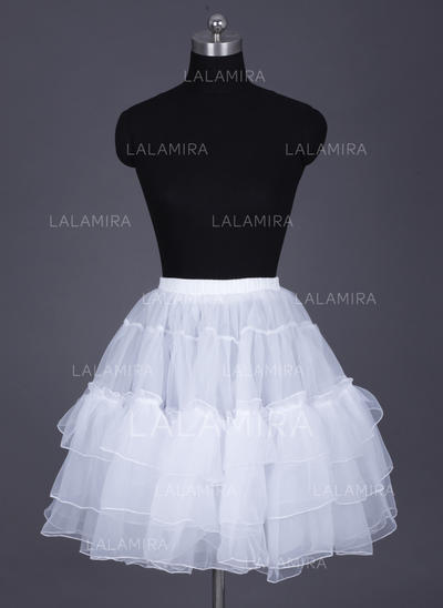 Short-length Organza Half Slip/Short Flare Slip 2 Tiers Wedding/Special Occasion Petticoats (037190768)