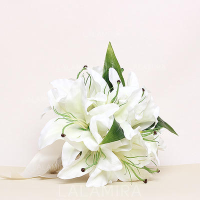 "Bridesmaid Bouquets Round Wedding Satin 8.66""(Approx.22cm) Wedding Flowers (123188266)"