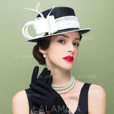 Net Yarn With Feather Fascinators Vintage Ladies' Hats (196194373)