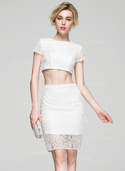 Magnífico Vestido tubo Escote redondo con Baile de promoción (016081183)