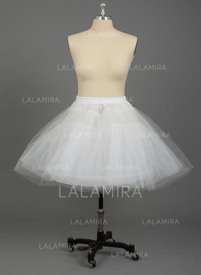 PLUS SIZE Petticoats Nylon/Tulle Netting A-Line Slip/Half Slip 3 Tiers Wedding/Special Occasion Petticoats (037190789)