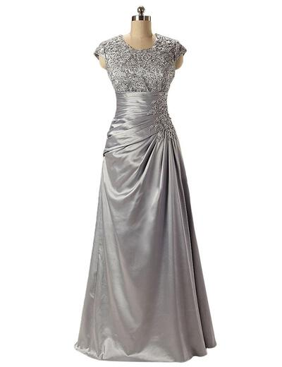 Charmeuse Lace Floor-Length Empire Sleeveless Mother of the Bride Dresses (008146344)