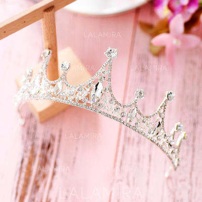 "Tiaras Wedding/Special Occasion/Party Crystal/Rhinestone/Alloy 1.89""(Approx.4.8cm) 4.72""(Approx.12cm) Headpieces (042158948)"
