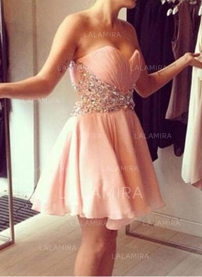 Sleeveless A-Line/Princess Simple Chiffon Cocktail Dresses (016145293)