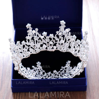 "Tiaras Wedding/Special Occasion/Party Rhinestone/Alloy 2.76""(Approx.7cm) 5.51""(Approx.14cm) Headpieces (042158938)"