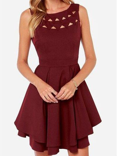 Scoop Neck A-Line/Princess Jersey Magnificent Homecoming Dresses (022212406)