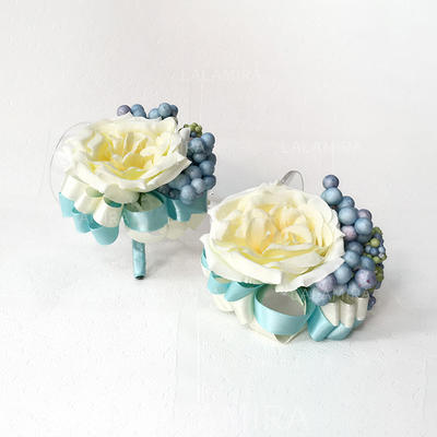 "Wrist Corsage/Boutonniere Free-Form Wedding Silk linen 2.36""(Approx.6cm)~2.76""(Approx.7cm) Wedding Flowers (123189921)"