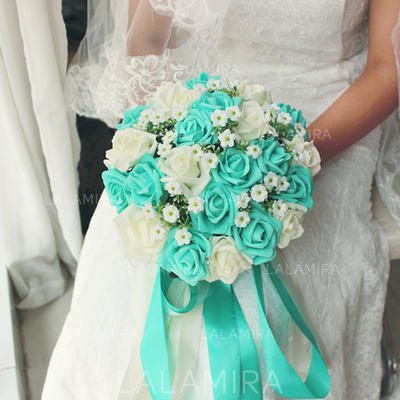 "Bridal Bouquets Round Wedding Satin 9.49""(Approx.24cm) Wedding Flowers (123189842)"