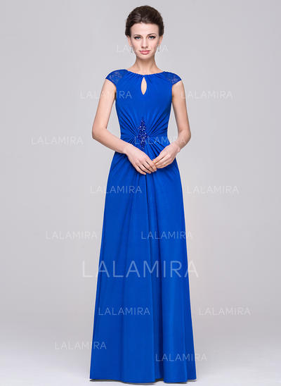A-Line/Princess Jersey Gorgeous Scoop Neck Mother of the Bride Dresses (008210602)