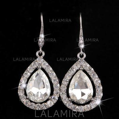 Earrings Alloy/Rhinestones Pierced Ladies' Beautiful Wedding & Party Jewelry (011167288)