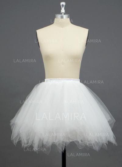 Petticoats Short-length Tulle Netting/Polyester A-Line Slip/Full Gown Slip/Flower Girl Slip/Half Slip 3 Tiers Petticoats (037190728)