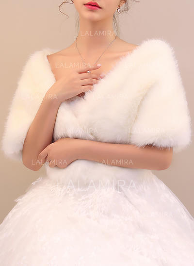 Wrap Special Occasion Faux Fur Ivory Wraps (013150435)
