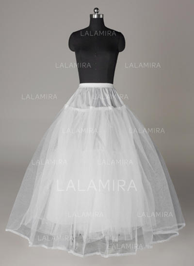 Bustle Floor-length Tulle Netting/Lace Full Gown Slip 4 Tiers Petticoats (037190850)