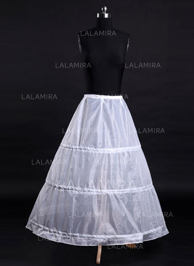 Bustle Tea-length Tulle Netting/Satin A-Line Slip 1 Tiers Petticoats (037190841)