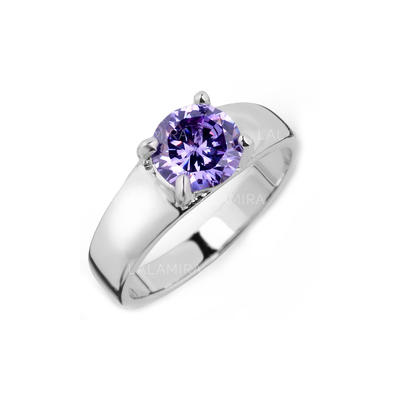 Rings Zircon/Platinum Plated Ladies' Beautiful Wedding & Party Jewelry (011164827)