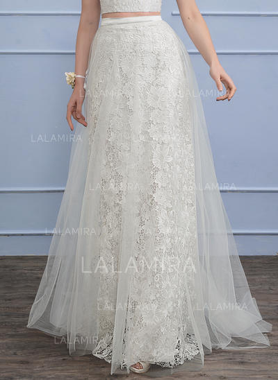 Sweep Train Tulle Lace Wedding Dress (002110498)