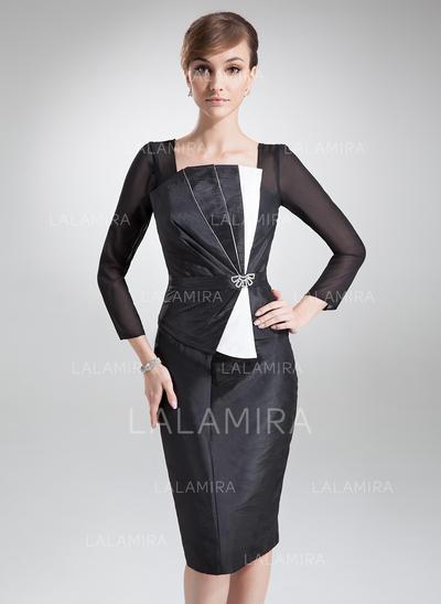 Forme Fourreau Encolure carrée Taffeta Sublime Robes mère de la mariée (008213102)