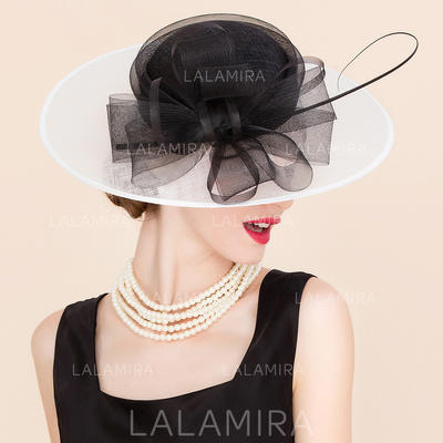 Cambric With Tulle Fascinators/Bowler/Cloche Hat Glamourous Ladies' Hats (196194045)