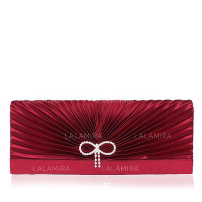 Clutches Wedding/Ceremony & Party Satin/Silk Magnetic Closure Gorgeous Clutches & Evening Bags (012183968)