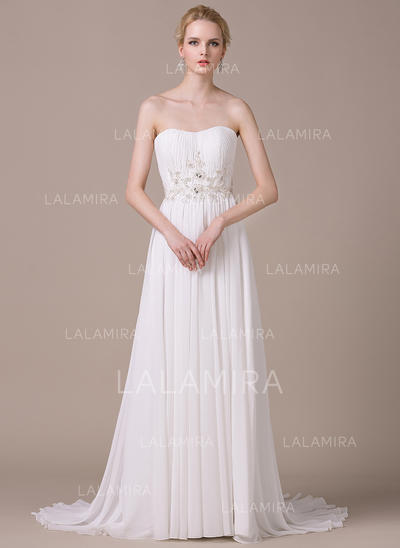 Elegant Chiffon Wedding Dresses With A-Line/Princess Sweetheart (002210612)