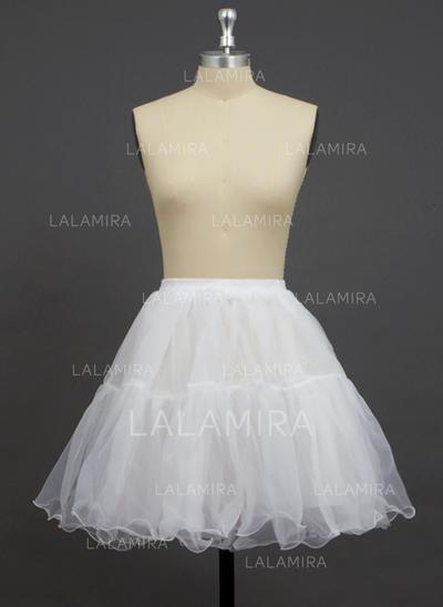 Petticoats Short-length Organza/Polyester A-Line Slip/Full Gown Slip/Flower Girl Slip/Half Slip 2 Tiers Petticoats (037190741)
