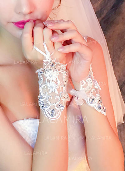 Lace Ladies' Gloves Wrist Length Bridal Gloves Fingerless Gloves (014192184)