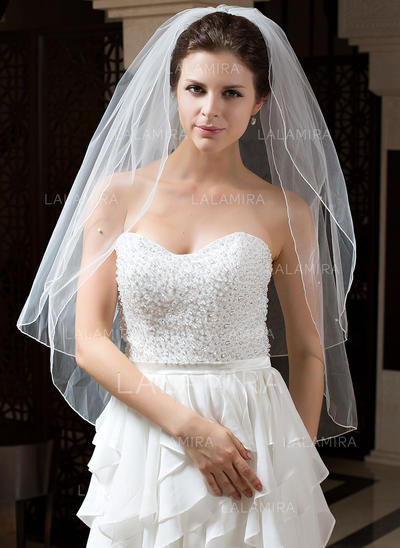 Waltz Bridal Veils Tulle Two-tier Classic With Pencil Edge Wedding Veils (006151420)