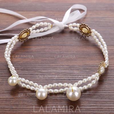 Hermoso Rhinestone/La perla de faux Diademas con Perla (042123410)