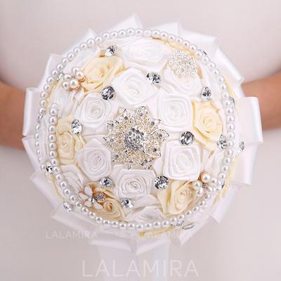 "Bridal Bouquets Round Wedding Satin 10.24""(Approx.26cm) Wedding Flowers (123189102)"
