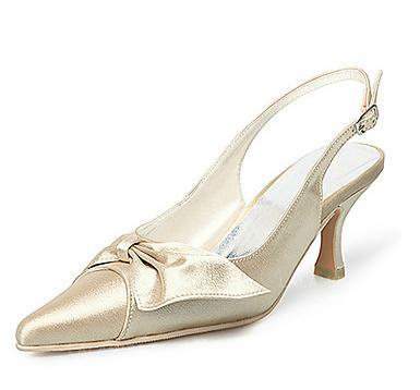 5d3906047 Mulheres Cetim Salto carretel Fechados Bombas Sapatos abertos com Bowknot  Fivela (047005130). Loading zoom. Carregando