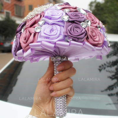 """Bridal Bouquets/Bridesmaid Bouquets Round Wedding/Party Satin 6.69""""(Approx.17cm) Wedding Flowers (123190427)"""