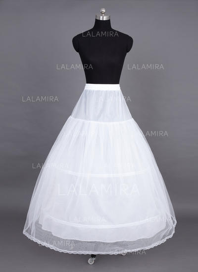 Petticoats Floor-length Tulle Netting Full Gown Slip 2 Tiers Petticoats (037190683)