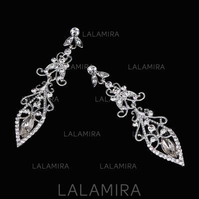 Earrings Alloy/Rhinestones Rhinestone Pierced Ladies' Wedding & Party Jewelry (011167850)