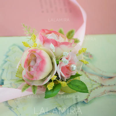 "Wrist Corsage Wedding/Party Satin/Cotton/Ribbon 1.18""(Approx.3cm) 2.76""(Approx.7cm) Wedding Flowers (123190056)"
