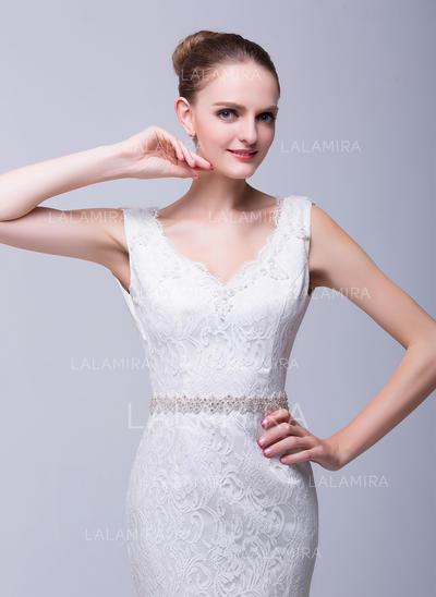 Con estilo Satén Fajas con Diamantes de imitación (015098843)