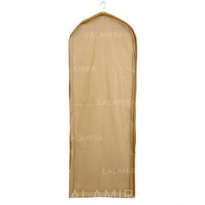 Garment Bags Gown Length Side Zip Tulle/PVC Champagne Wedding Garment Bag (035192271)