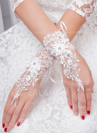 Tulle Ladies' Gloves Bridal Gloves Fingerless 20cm(Approx.7.87inch) Gloves (014192213)
