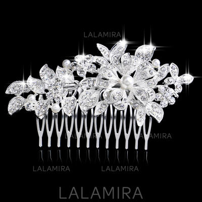 """Combs & Barrettes Wedding/Special Occasion/Party Rhinestone/Alloy/Imitation Pearls 4.13""""(Approx.10.5cm)/14.57 """"(Approx.37cm) 2.36""""(Approx.6cm) Headpieces (042156956)"""