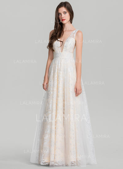 Tule Sem magas com Vestidos princesa/ Formato A Magnífico Vestidos de baile (018138540)