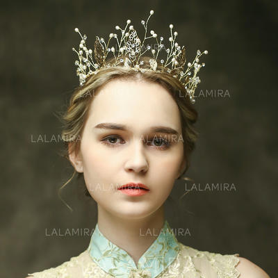 """Tiaras Wedding/Special Occasion/Party Rhinestone/Imitation Pearls 10.83""""(Approx.27.5cm) 3.35""""(Approx.8.5cm) Headpieces (042156651)"""