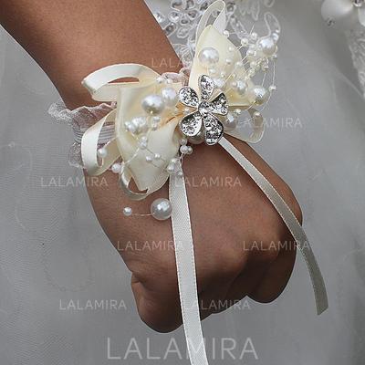 "Wrist Corsage Free-Form Wedding/Party Satin 2.76""(Approx.7cm) Wedding Flowers (123190142)"