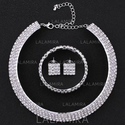 Jewelry Sets Alloy/Rhinestones Pierced Ladies' Beautiful Wedding & Party Jewelry (011168051)