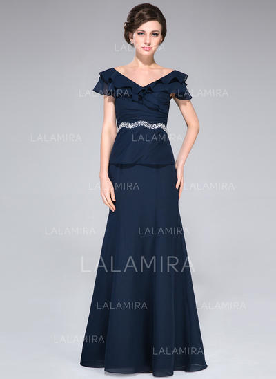 A-Line/Princess Chiffon 2019 New Off-the-Shoulder Mother of the Bride Dresses (008210523)